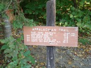 Appalachian Trail Directional Sign at the base of the Old Speck Trail