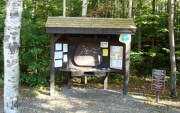 Kiosk at the base of the Old Speck Trail