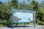 Sign: Welcome to Greenville