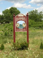 Sign: Town of Hampden, Incorporated 1794 (2003)