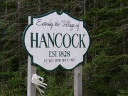Sign: Entering the Village of Hancock (2004)
