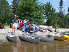 Campers Starting the Bow River Trip at Holeb Pond (2006)