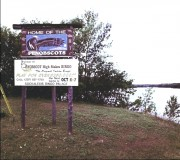 "Sign announcing the ""Home of the Penobscots"" (2001)"