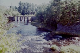 Old Dam Remains on the Mattawamkeag River (2001)