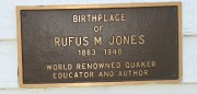 Plaque: Birthplace of Rufus M. Jones (2004)
