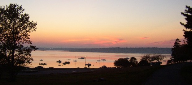 October Sunset at Lamoine Beach (2003)
