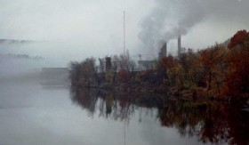 Smoke and Fog at the Otis Mill on Androscoggin River (2001)