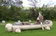 Sculpture: Acadian Refugee in Canoe (2003)