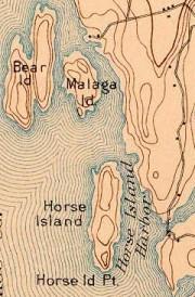 Malaga and Horse Islands (USGA map 1894)