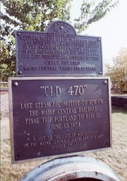 "Plaque: ""Old 470"" (2001)"