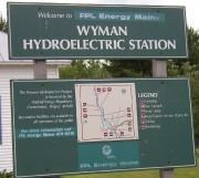 Sign with Wyman Station and Wyman Lake Info (2004)