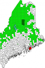 Location Map for Mount Desert Island