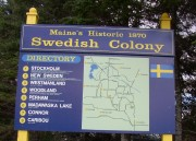 Sign: Main's Historic 1870 Swedish Colony, on Maine Route 161 in New Sweden