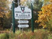 Sign: Oxbow Wreaths (2008)