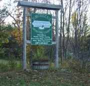 Umcolcus Sporting Camps Sign (2008)