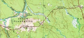 1968 Topographic Map of Oxbow and a Portion of T9 R5
