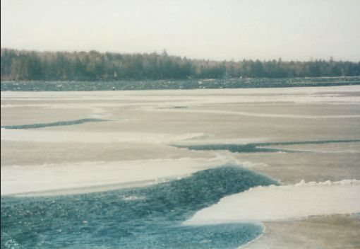 Ice-out on Sebago Lake, Spring 1985