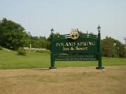 Sign: Poland Spring Inn & Resort, Preservation Park (2004)