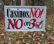 No on Resort Casino Sign, November, 2003