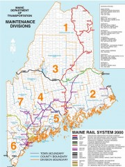 Maine Rail Map