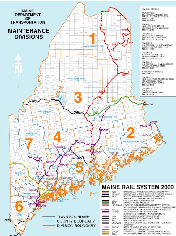 Railroads Maine An Encyclopedia - Sweden maine map