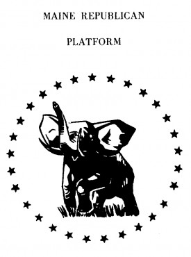 Logo on GOP 1970 Platform Pamphlet