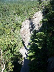 Steep, rocky descent on the Maine Section of the AT just past the New Hampshire border. (2007)