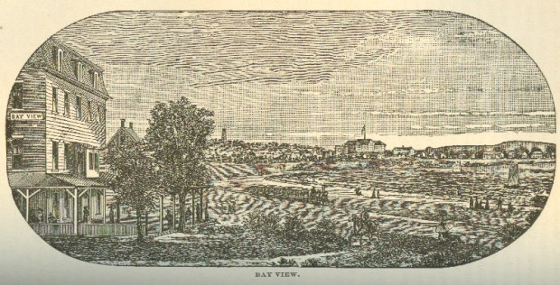 View of Saco Bay, from A Gazetteer of the State of Maine, 1886