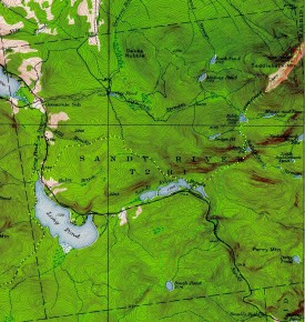 1949 Topographic Map of Sandy River