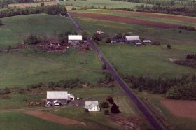 Potato (lower) and Dairy (upper left) Farms on the Golden Ridge Road (2001)