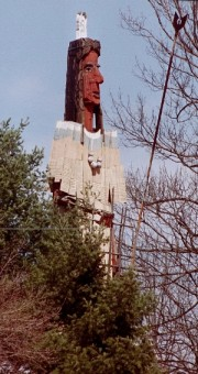 Abenaki Indian Sculpture in Skowhegan (2002)