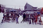 Skis Near the Lodge