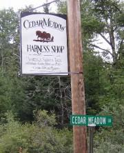 Cedar Meadow Harness Shop Sign (2003)