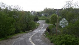 Route 105 approaching Sandhill Corner (2003)