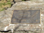 "Plaque Outlining the ""Appalachian National Scenic Trail"""
