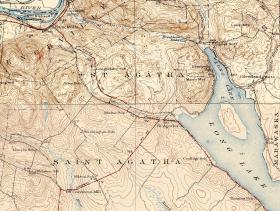 St Agatha Topo Map 1930's