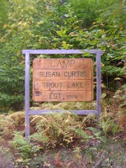 Sign for Camp Susan Curtis