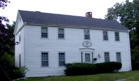 "Sullivan-Simpson House, sign indicates ""Built 1790"""