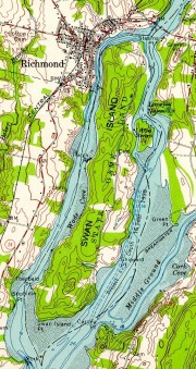 Topographic Detail for Swan Island (1957)