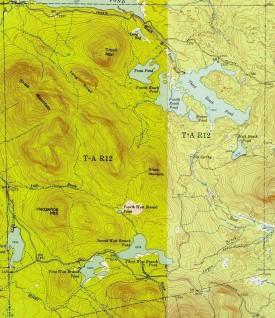 1952 TA R12 Topographic Map