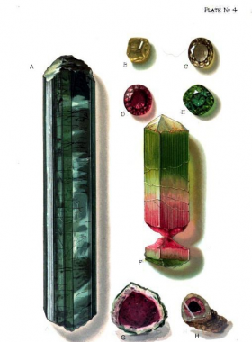 Tourmaline from Mt. Mica Quarry