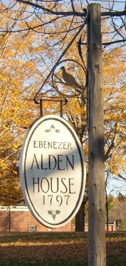 Sign: Ebenezer Alden House (2004)