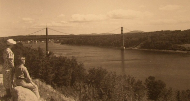 Waldo-Hancock Bridge, 1936 from Prospect