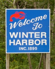 Sign: Welcome to Winter Harbor (2004)
