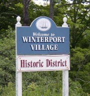 Sign: Welcome to Winterport Village (2003)