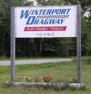 Sign: Winterport Dragway (2003)