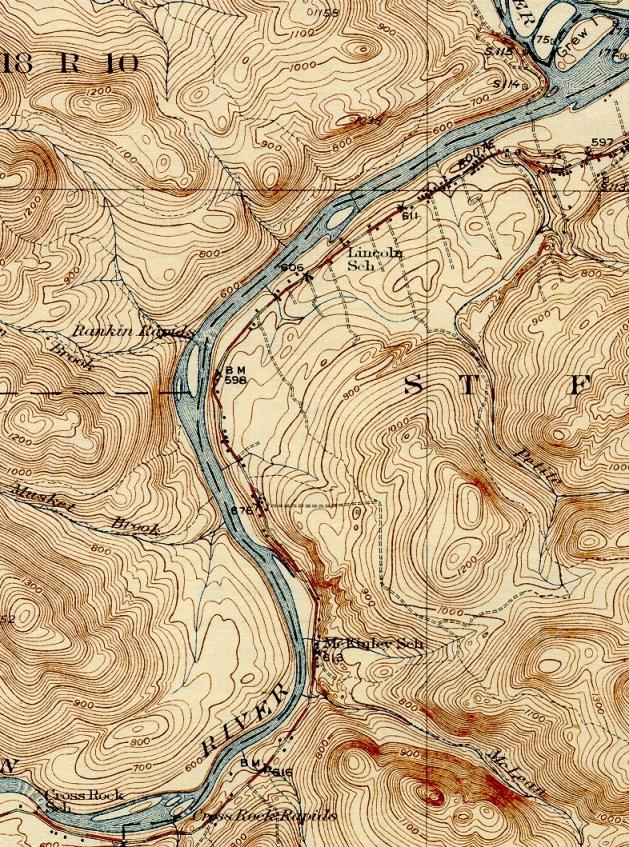 St John River Maine Map.Dickey Lincoln Maine An Encyclopedia