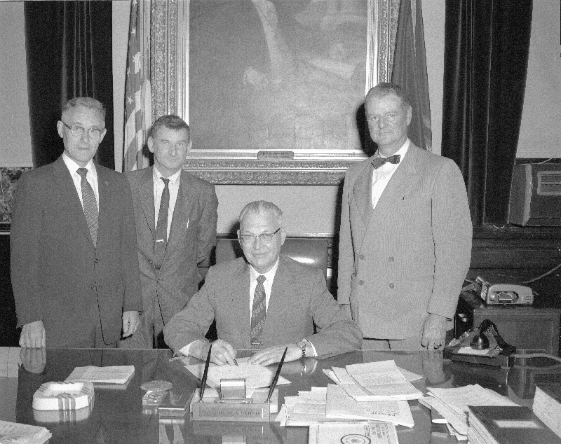 Clinton A Clauson In His Office Courtesy Of Maine StateArchives
