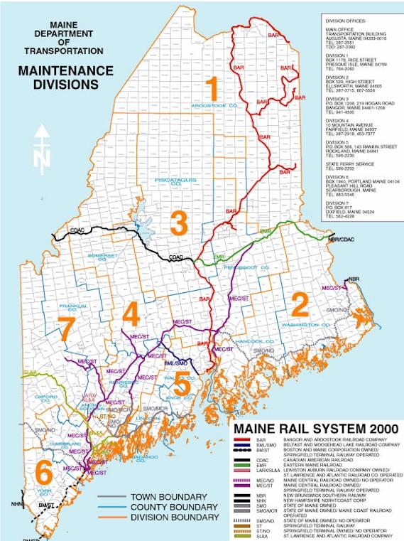 Amtrak Maine Map.Railroads Maine An Encyclopedia